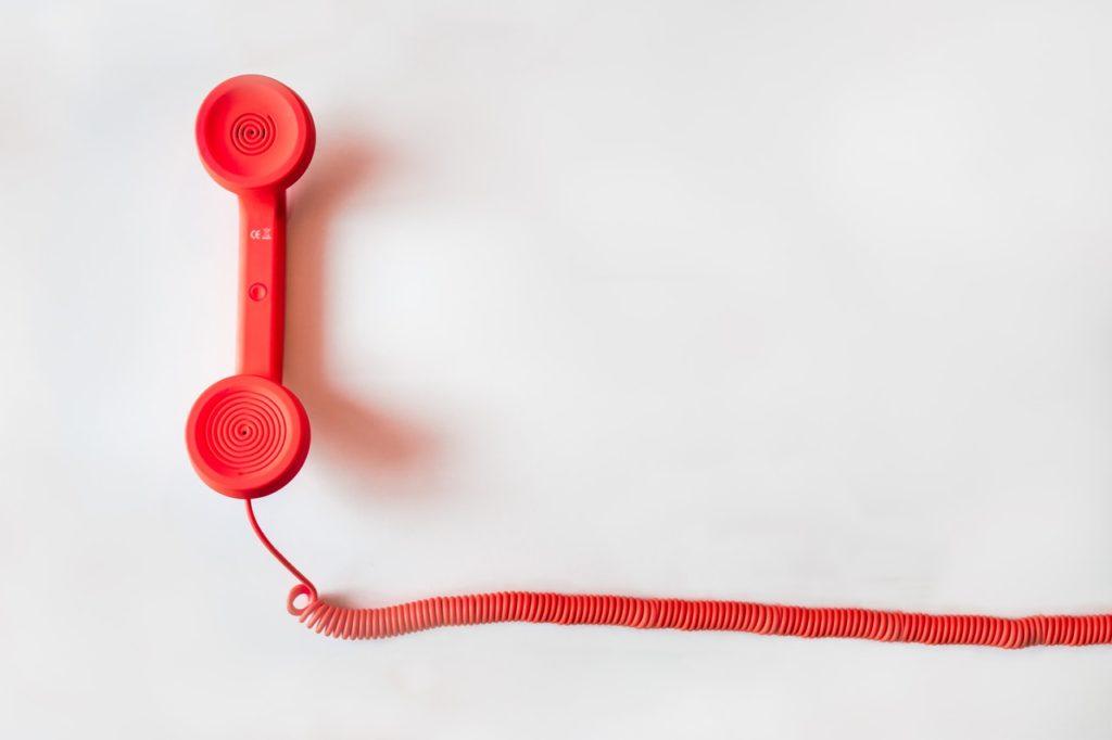 zdjęcie słuchawki telefonicznej